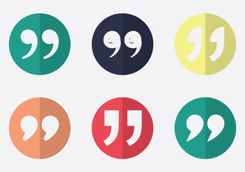 Free Quotation mark Vector Icon - Free vector #348169