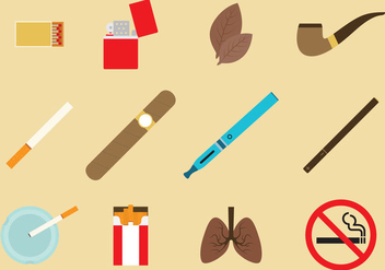 Tobacco Icon Vectors - Free vector #348199