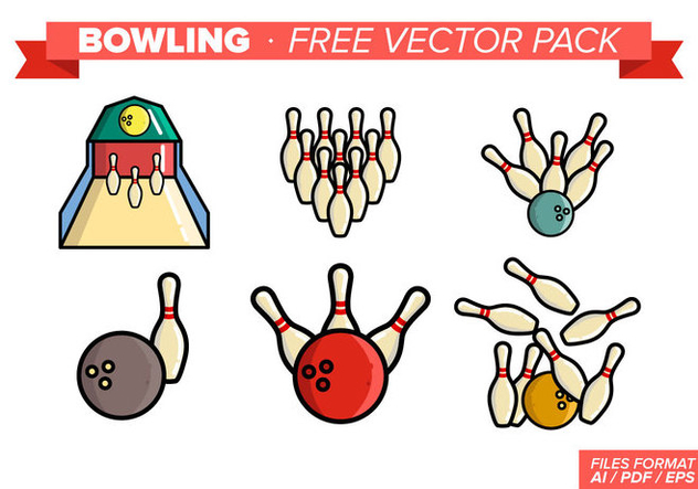 Bowling Free Vector Pack - vector gratuit #348289