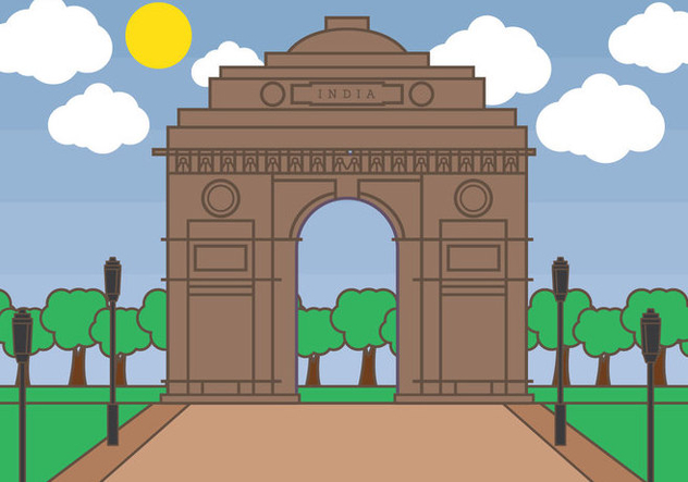 India Gate Vector - Free vector #348319