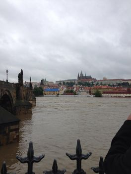 View on river and architecture of Prague, Czech Republic - Kostenloses image #348369