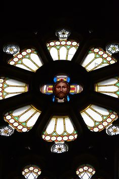 Stained glass window in cathedral - бесплатный image #348439