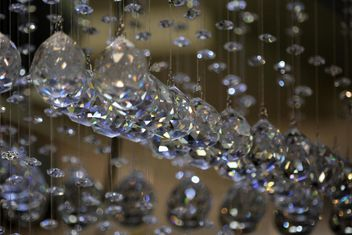 Closeup of beautiful crystals hanging - бесплатный image #348569