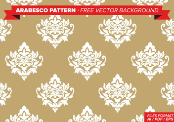 Arabesco Pattern Free Vector Background - Free vector #348809