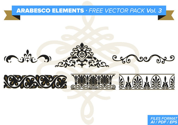 Arabesco Elements Free Vector Pack Vol. 3 - Free vector #348829