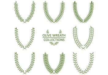Green Decorative Wreath Vectors - Free vector #349029