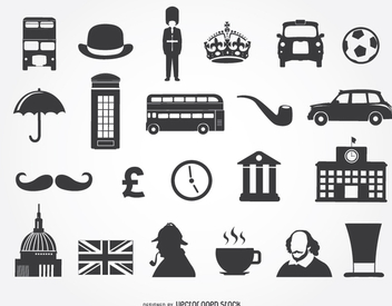 22 United kingdom icons - Free vector #349389