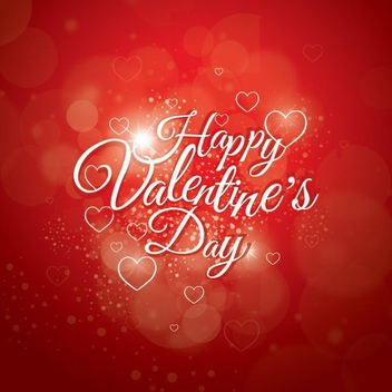 Glowing Valentines Day Design - vector gratuit #349399