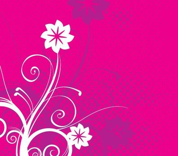 Floral Swirls Halftones Background - Kostenloses vector #349419