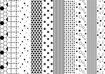 Free Dotted Patterns Vectors - vector gratuit #349489