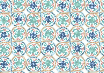 Circle Moroccan Pattern Background Vector - vector gratuit #349519