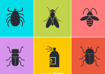 Free Vector Pest Control Icons - vector #349559 gratis