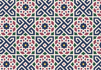 Floral Moroccan Pattern Background Vector - vector gratuit #349599