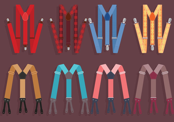 Suspenders Colorful Vector - Free vector #349629