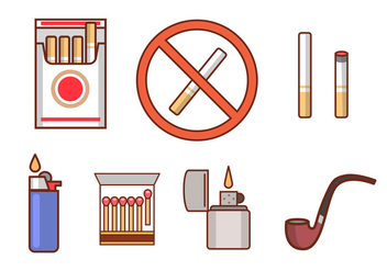 Smoking Icon Vectors - vector gratuit #349639