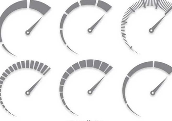 Gray Tachometer Vector Set - Kostenloses vector #349649