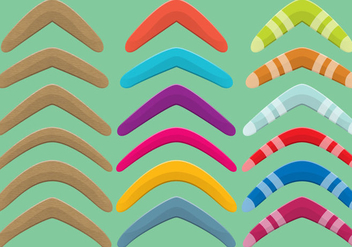 Wood And Plastic Boomerang Vector - vector gratuit #349669