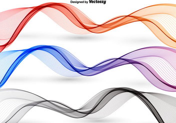 Colorful abstract waves - Kostenloses vector #349719