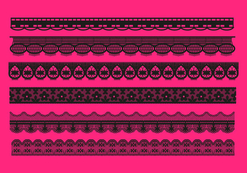 Lace Trim Patterns Vector - бесплатный vector #349749