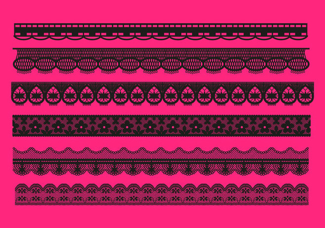 Lace Trim Patterns Vector - vector gratuit #349749