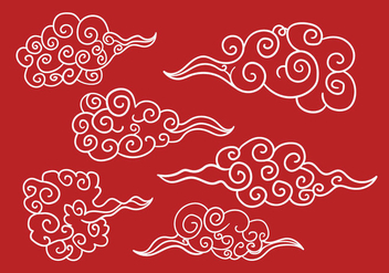 Chinese Clouds Vector - бесплатный vector #349769