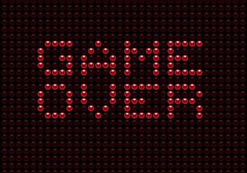 Free Game Over LED Vector - vector gratuit #349779