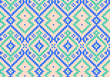 Traditional Pattern Background Vector - vector gratuit #349799