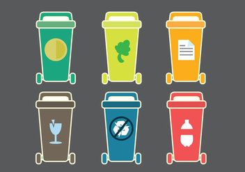 Free Dumpster Classification Vector Icon - vector gratuit #349879