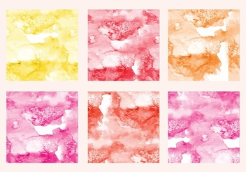 Vector Watercolor Squares - Free vector #349949