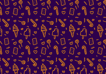 Free Candy Vector Pattern - Free vector #350029