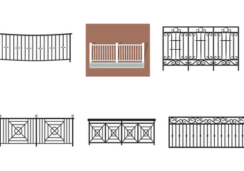 Balcony Rail Vectors - бесплатный vector #350089