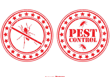 Pest Control Stamp Set - vector #350119 gratis