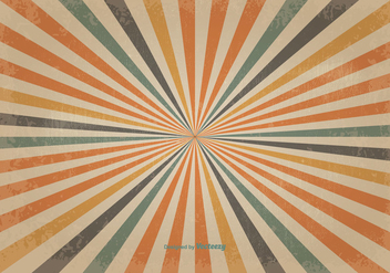 Retro Colored Sunburst Vector Background - Kostenloses vector #350149