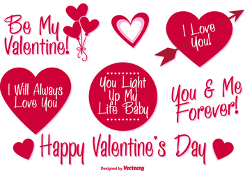 Valentine's Day Vector Labels - Kostenloses vector #350159
