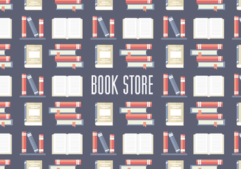 Free Book Store Pattern Vector - vector gratuit #350349