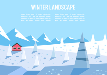 Free Winter Adventure Illustration Vector - Free vector #350379