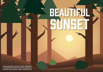 Free Vector Sunset Illustration - бесплатный vector #350429