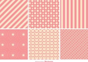 Geometric Pink Pattern Vectors - бесплатный vector #350439