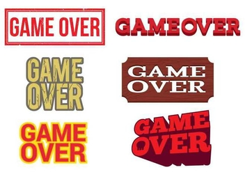 Game Over Vector Labels - vector gratuit #350449