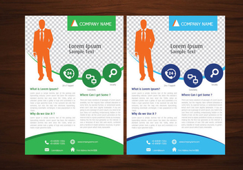 Business Vector Flyer Design Layout Template in A4 size - Kostenloses vector #350489