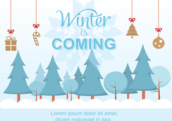 Free Christmas Background Illustration with Typography - vector gratuit #350569