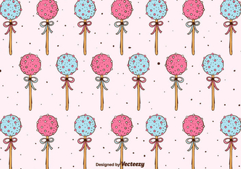 Cake Pops Pattern Background - Free vector #350609