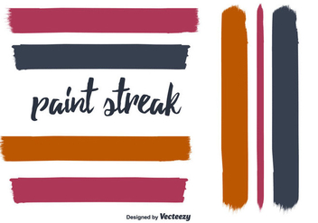 Hand Drawn Paint Streak Vector - vector gratuit #350619
