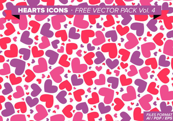 Heart Pattern Free Vector - Free vector #350649