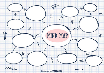Hand Drawn Mind Map Vector - Kostenloses vector #350689