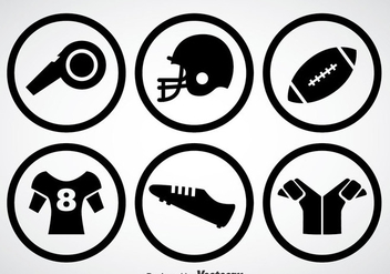 Football Kit Black Icons Vector - Kostenloses vector #350709