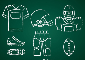 Football Kit Chalk Draw Set Vector - бесплатный vector #350719