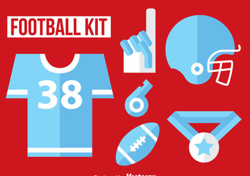 Football Kit Flat Icon Vector - Kostenloses vector #350729