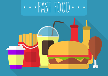 Fast Food in Vector - vector gratuit #350889