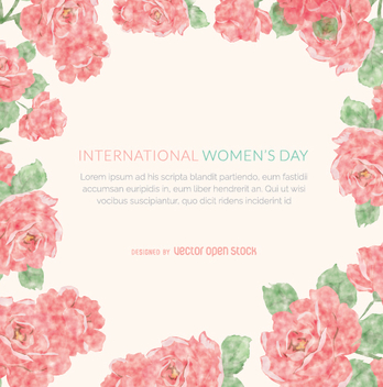 Women's Day frame - vector gratuit #350949